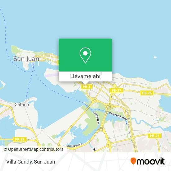 Mapa de Villa Candy
