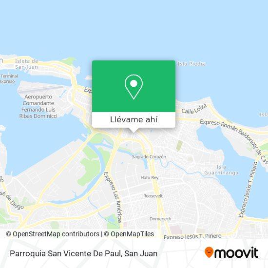 Mapa de Parroquia San Vicente De Paul