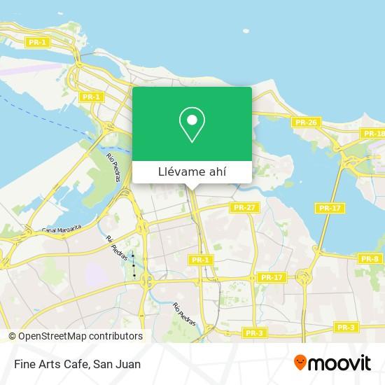 Mapa de Fine Arts Cafe