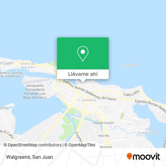 Mapa de Walgreens Store Number 217