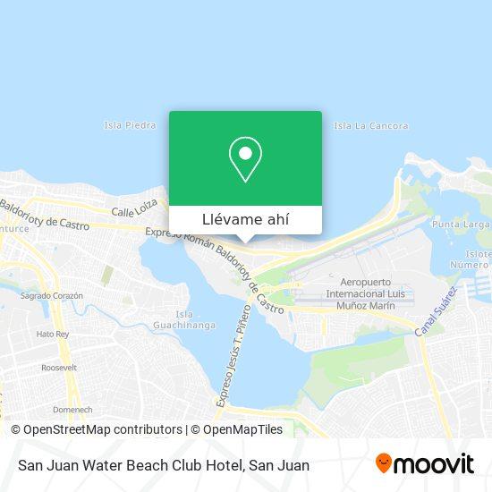 Mapa de San Juan Water Beach Club Hotel