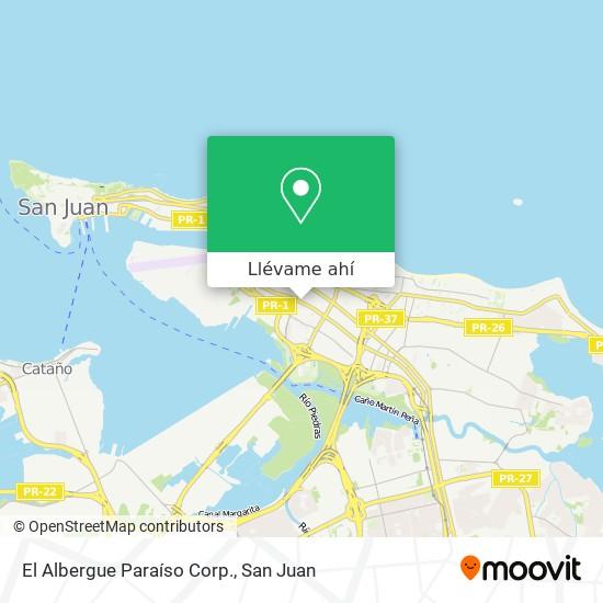 Mapa de El Albergue Paraíso Corp.