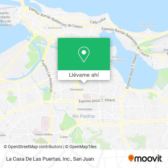Mapa de La Casa De Las Puertas, Inc.
