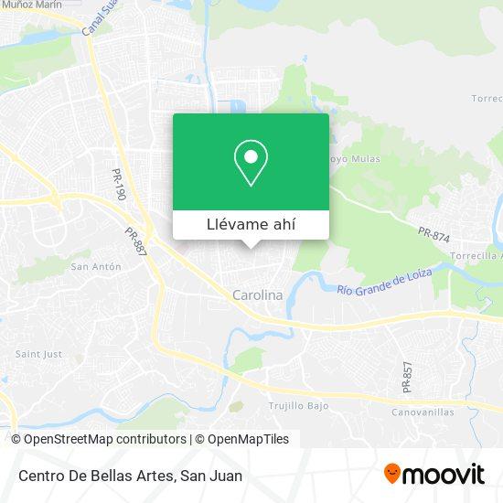 Mapa de Centro De Bellas Artes