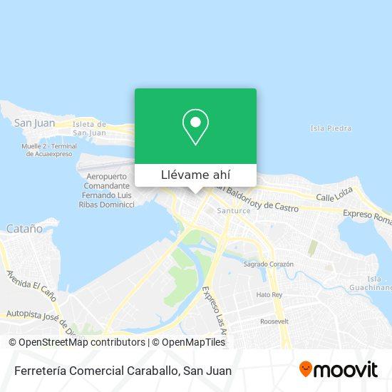 Mapa de Ferretería Comercial Caraballo