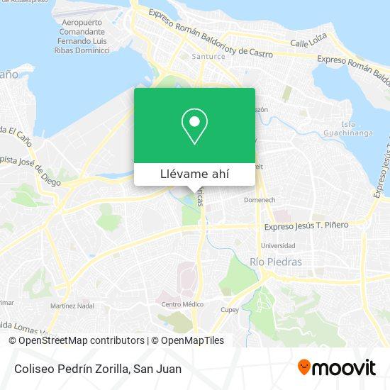 Mapa de Coliseo Pedrín Zorilla