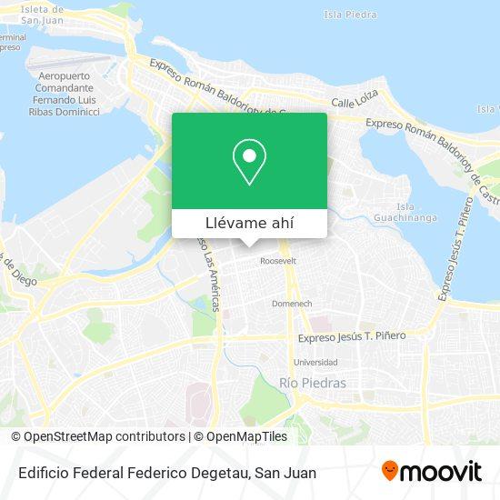 Mapa de Federico Degetau Federal Building