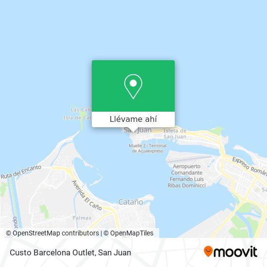Mapa de Custo Barcelona Outlet