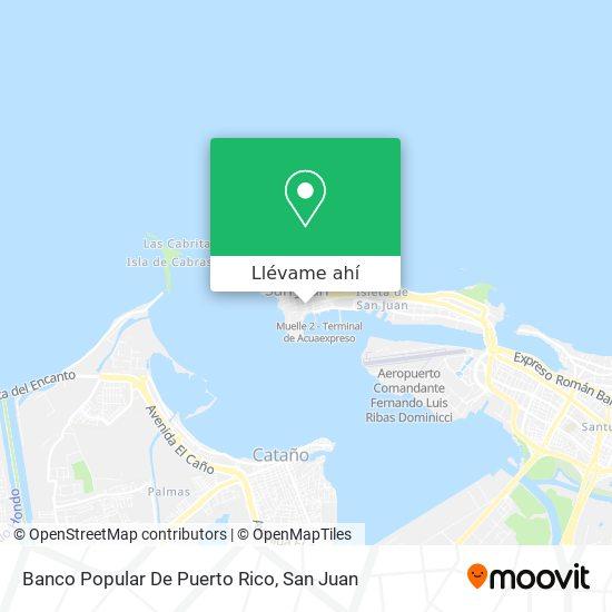 Mapa de Banco Popular De Puerto Rico