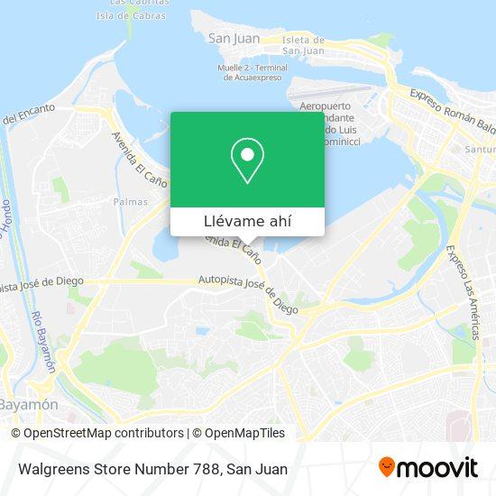 Mapa de Walgreens Store Number 788
