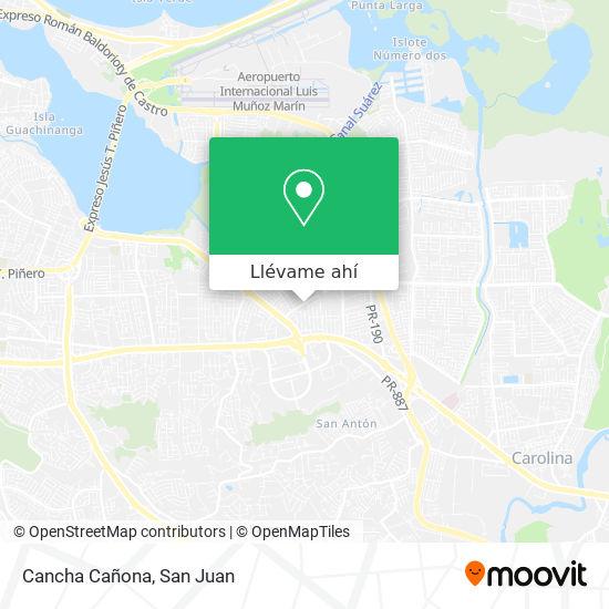 Mapa de Cancha Cañona