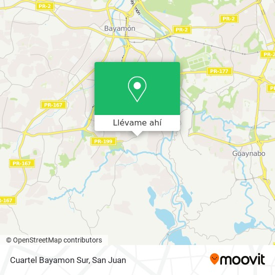 Mapa de Cuartel Bayamon Sur