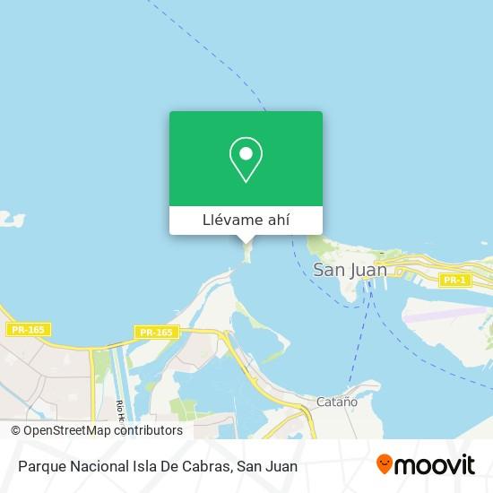 Mapa de Parque Nacional Isla De Cabras