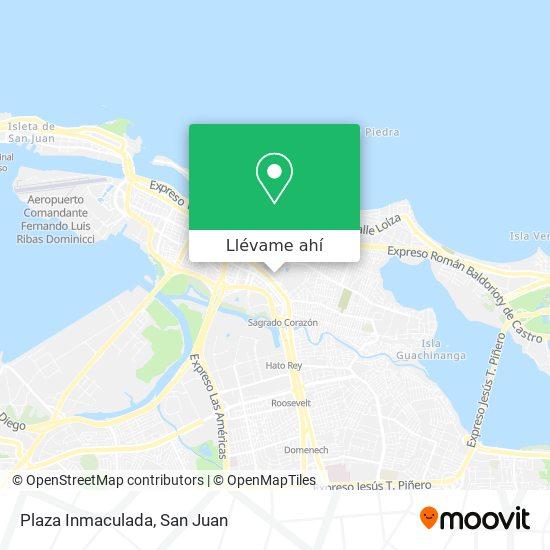 Mapa de Plaza Inmaculada