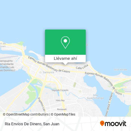 Mapa de Ría Envíos De Dinero