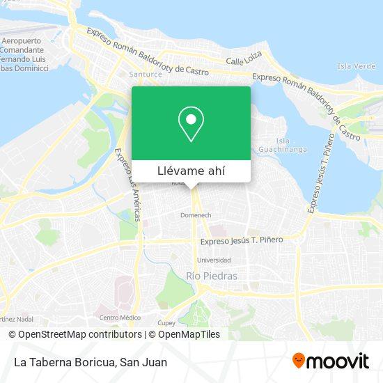 Mapa de La Taberna Boricua