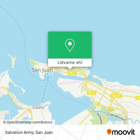 Mapa de Salvation Army