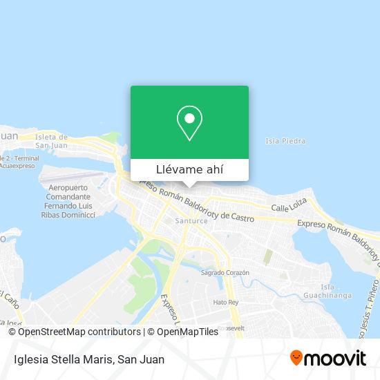 Mapa de Iglesia Stella Maris