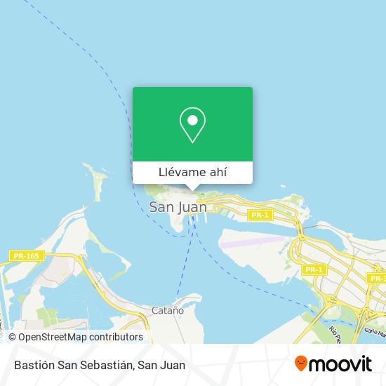 Mapa de Bastion San Sebastian