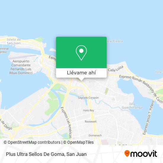 Mapa de Plus Ultra Sellos De Goma