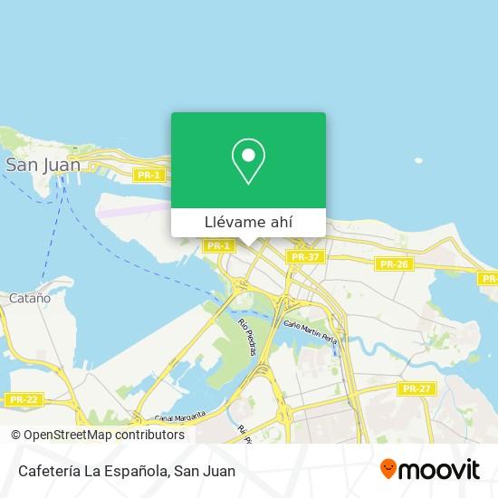 Mapa de Cafetería La Española
