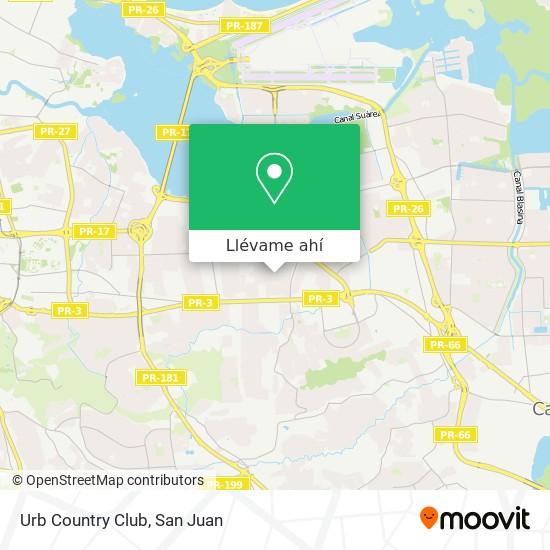 Mapa de Urb Country Club