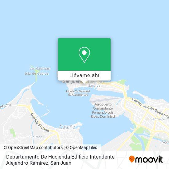 Mapa de Departamento De Hacienda Edificio Intendente Ramirez