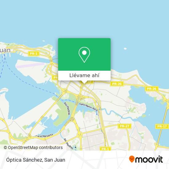 Mapa de Óptica Sánchez