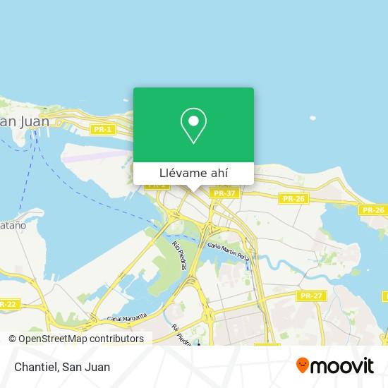 Mapa de Chantiel