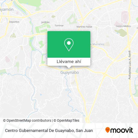 Mapa de Centro Gubernamental De Guaynabo