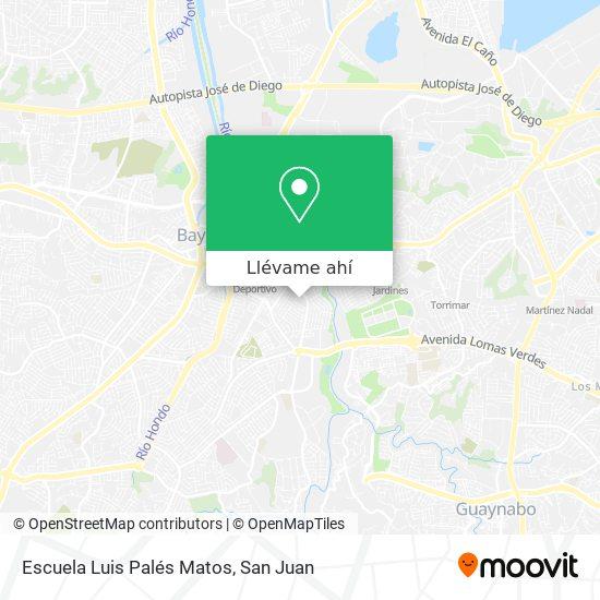 Mapa de Escuela Luis Palés Matos