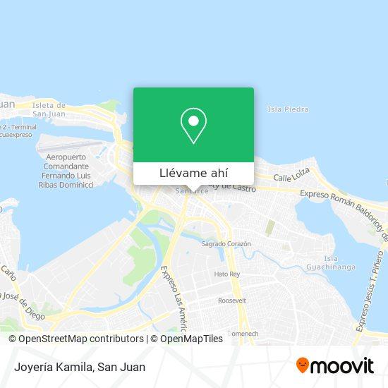 Mapa de Joyería Kamila