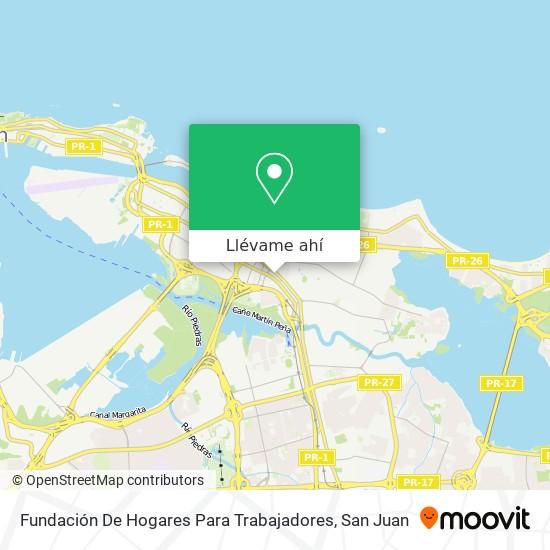 Mapa de Fundación De Hogares Para Trabajadores
