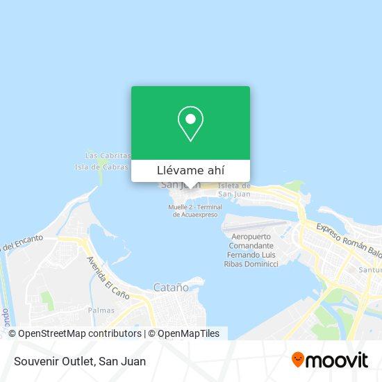 Mapa de Souvenir Outlet