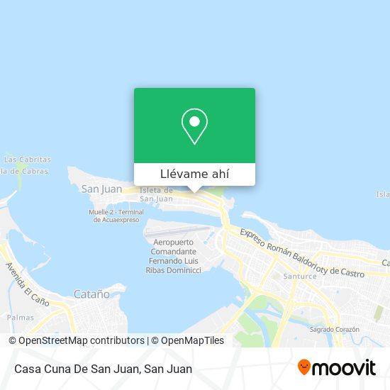 Mapa de Casa Cuna De San Juan