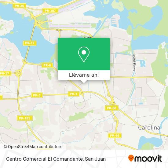 Mapa de Centro Comercial El Comandante