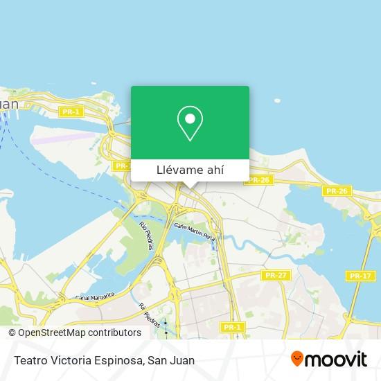 Mapa de Teatro Victoria Espinosa