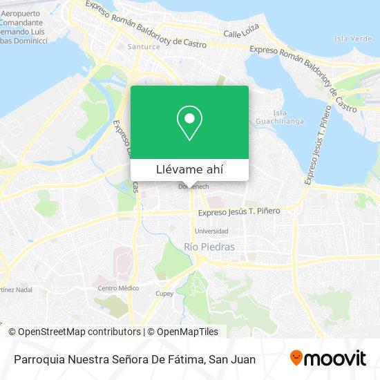 Mapa de Parroquia Nuestra Señora De Fátima