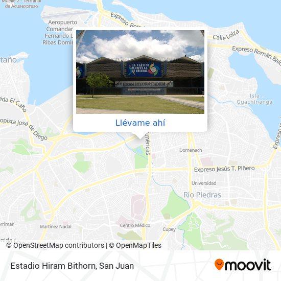 Mapa de Estadio Hiram Bithorn