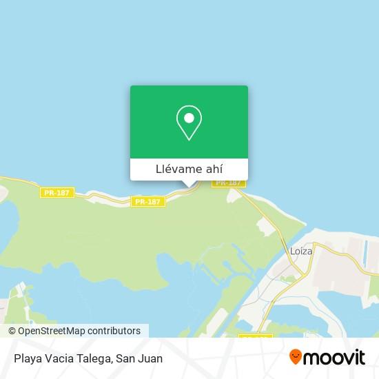 Mapa de Playa Vacia Talega