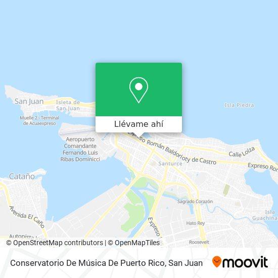 Mapa de Conservatorio De Música De Puerto Rico