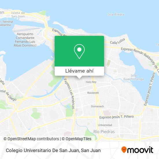 Mapa de Colegio Universitario De San Juan