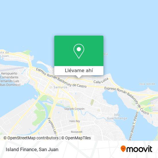 Mapa de Island Finance