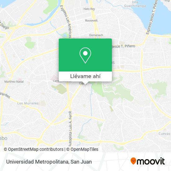 Mapa de Universidad Metropolitana