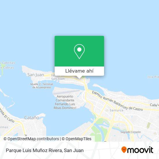 Mapa de Parque Luis Muñoz Rivera