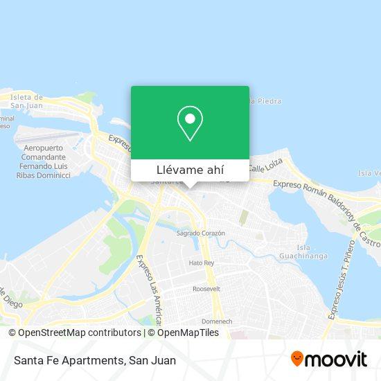 Mapa de Santa Fe Apartments