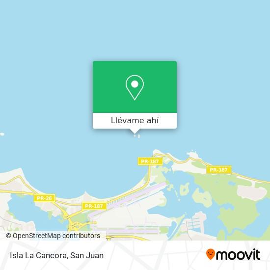 Mapa de Isla La Cancora