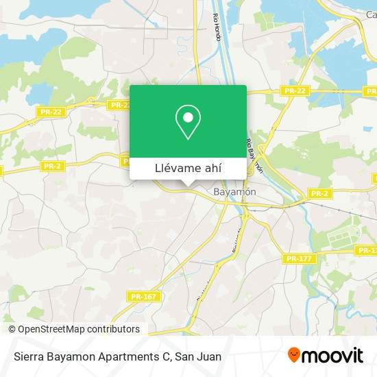 Mapa de Sierra Bayamon Apartments C