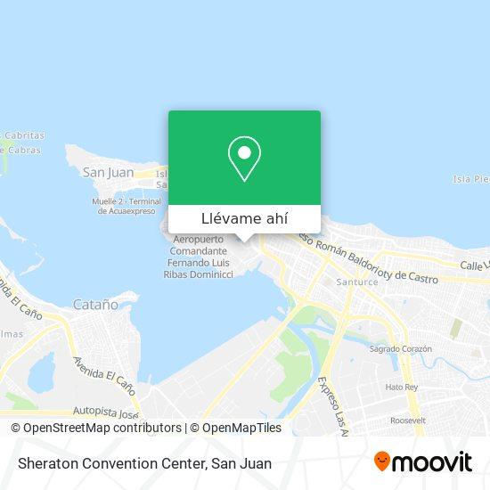 Mapa de Sheraton Convention Center