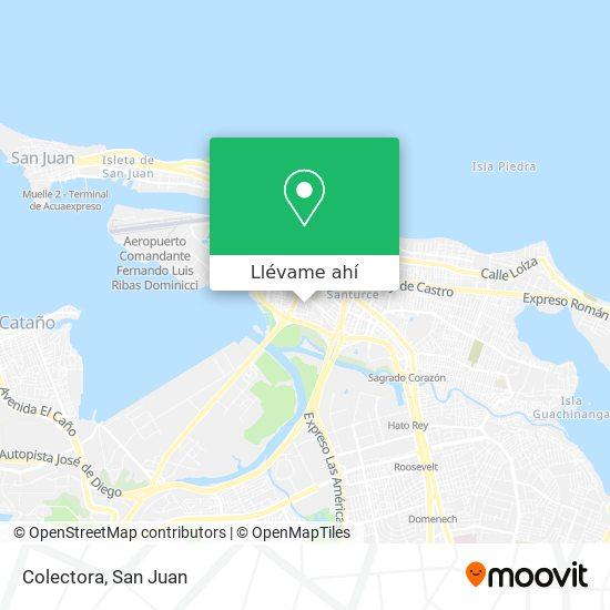 Mapa de Colectora